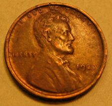 "ERROR:  1920-D Lincoln Cent Wheat Penny.   Different Style ""20"", and Double D"