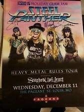 Steel Panther Autographed 18x24 Concert Poster-Metal Rules Tour - St. Louis 2019