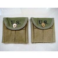 WWII WW2 US U.S. M1 Carbine Magazine Pouch,Army,Military,Canvas,
