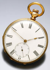 Antique 14K Gold Jules Girod Swiss Key Wind Pocket Watch | 13 Jewel 14 Siz C1870