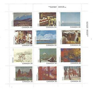 Canada 1982  Canada DAY Pane of  12 Scenes painted Mint $12.