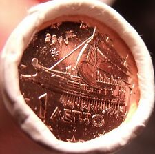 Gem Unc Original Roll (50) Greece 2011 1 Euro Cents~Ancient Athenian Trireme~F/S