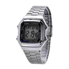 Casio Original New A178WA Mens Silver Stainless Steel Digital Watch A178 A-178