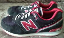 Black/ Red  Youth New Balance 574 Trainers  UK 3 - used