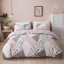Cotton Pink Geometric pebbles  Duvet Cover Queen Bedding Quilts Cover