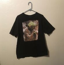 RARE Star Wars Yoda Black portrait T Shirt Men's 2xl xxL jedi