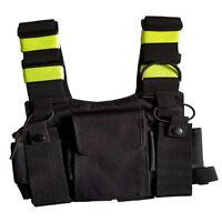 Radio Harness Chest Rig Bag Pocket Pack Holster Vest Fluorescent Green