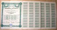 MEXICO - Compania Minera Nazareno y Alicante S.A., 1911 ($ 100) + Coupons
