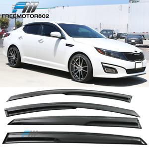 Fits 10-15 Kia Optima K5 Mugen Style Window Visors Rain Sun Guard Deflector
