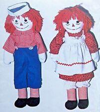 """*  Vintage 5713 RAGGEDY ANN & ANDY DOLLS  Pattern 10"""" - 25"""" 1977 UNCUT"""