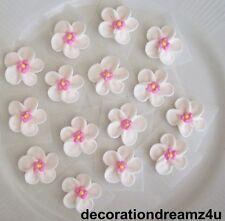 "12 - 3/4"" Sugar Royal Icing Edible Flowers Cake Cupcake Wedding Cherry Blossom"
