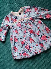 3-6 months girl long sleeve blue flower print dress form george