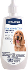 Dog Ear Mite Tick Medicine Treatment Anti Itch Relief Indoor Outdoor 3 Ounces