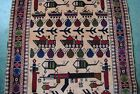 Tremendous Afghan War Hand made Rug in the memory of soviet union war