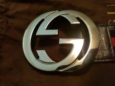 Gucci belt mens 100% authentic NavyBlue/Red