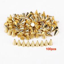 100pcsPic Studs / Rivets Studs Punk plastic 6x4mm Diy Golden R8A9
