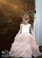 Designer Blush Pink Flower Girl Princess Dress Best Fairy Dust Wishes NWT Size 5