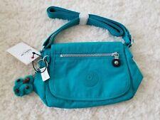 Kipling Sabian Crossbody Messenger Shoulder Bag Paradise Green Monkey Keyfob NWT
