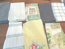 Collection of 8 100% cotton terry cloth Hand Towels  Kitchen and Bath