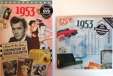 64th BIRTHDAY or ANNIVERSARY GIFT SET - 1953 DVD , Pop Compilation CD & Cards