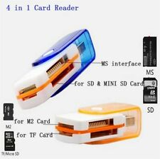 Pro High Speed 4 in 1 USB Memory Card Reader For MS MS-PRO TF Micro SD Useful