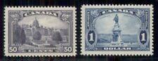 CANADA #226-7, 50¢ & $1.00 high values in set, fresh og, VLH, VF, Scott $87.50