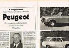 PUBLICITE ADVERTISING  1971   PEUGEOT 304  cabriolet & 504 break (2 pages)