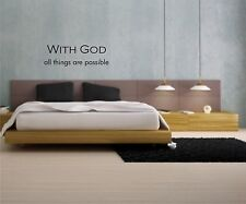 With God all things are possible wall vinyl decal