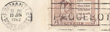Stamp Australia 61 Christmas on cover FREMANTLE PAQUEBOT roller postmark, scarce