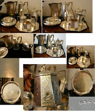 8 PC STERLING SILVER RARE TEA SET W/ TRAY-168 OUNCES BY BIXBY SILVER CO.C 1896-