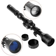 Hot Telescope 3-7X28 Hnting Scope With Mounts Lens Caps For Rifle Airsoft