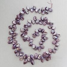 "Mauve/ Lilac Genuine Freshwater Keshi Pearls 16"" (38cm) Strand"