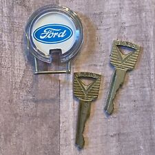 Vintage FORD Key Chain Key Ring Fob & 2 FORD  Keys