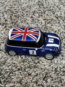 Carrera Go Slot Car Mini Cooper #1 Blue Flag Free US shipping