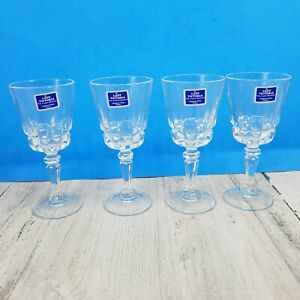 4 Lady Victoria Crystal Stemware Champagne Cordials Glasses Chantelle Stemmed