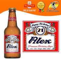 4, 6 OR 12 PERSONALISED BEER LAGER BOTTLE LABELS BIRTHDAY ANY OCCASION GIFT