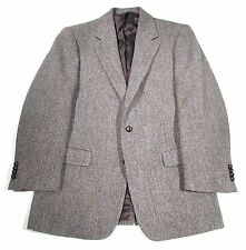 Brooks Brothers Gray Herringbone Harris Tweed Sport Coat Men's 40R Made in Italy