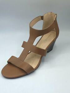Andrew Geller Dagny Women's Toffee Back Open Toe Heeled Sandals US 11 M