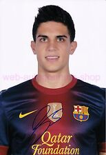 MARC BARTRA - FC BARCELONA - SIGNED IN PERSON AUTOGRAMM AUTOGRAPH 20 x 29,5 CM