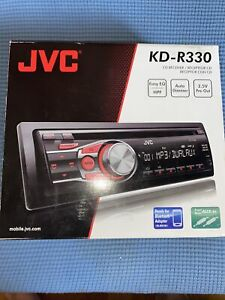 NEW JVC KD-R330 CD/MP3 Receiver Black Removable Faceplate W/REMOTE-Bluetooth Aux