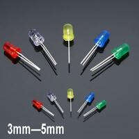 300Pcs 3mm 5mm LED Light White Yellow Red Blue Green Assortment Diodes Set MT