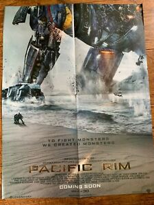 Man of Steel + Pacific Rim Double-Sided Movie Film Poster DC Universe