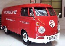 LGB 1:24 ECHELLE VW T1 Pare-Brise divisé ROUGE PORSCHE Livraison VAN modèle Van