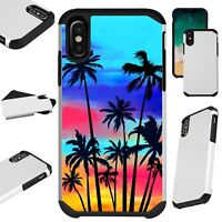 FusionGuard For iPhone 6/7/8 PLUS/X/XR/XS Max Phone Case SUNSET PALM TREE