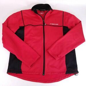 Brooks Equilibrium Technology Men's Medium Red / Black Long Sleeve Zip Up Jacket
