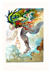 Divine Comedy Inferno 31 by Salvador Dali A4 Art Print