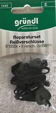 6 X3grö. Schieber Schlitten Zipper Reißverschluss Reparatur Set Reißverschlüsse