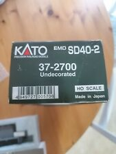 HO Scale Kato #37-2700 Undecorated EMD SD40-2 dynamic/non-dynamic DC