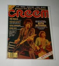 (2) KEITH RICHARDS cover mags 1977 CIRCUS & 1982 CREEM with AC/DC center poster