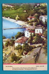 FRANCE French Riviera - 1940s Color Ink Blotter Print